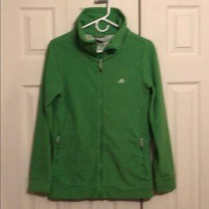 Adidas full zip fleece. Women's Med. Bright Green